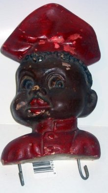 Black Americana Chef Chalkware Kitchen Hanger