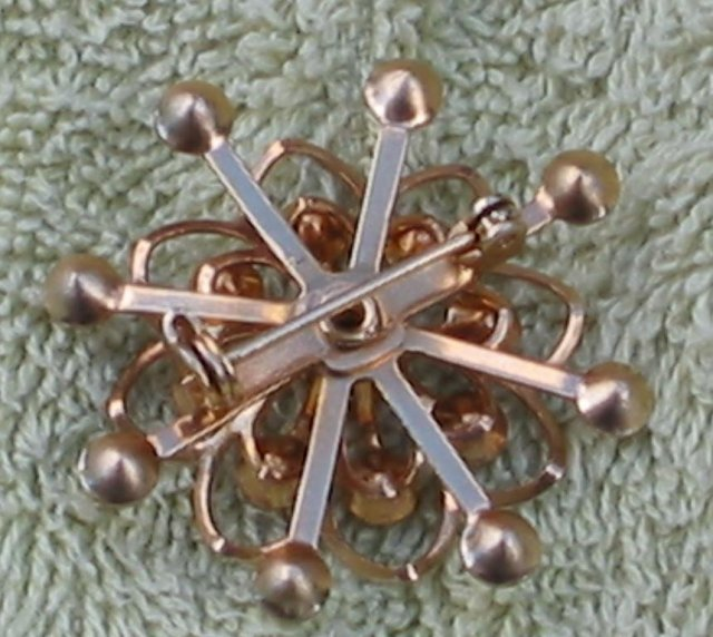 Rhinestone Snowflake Brooch Pin