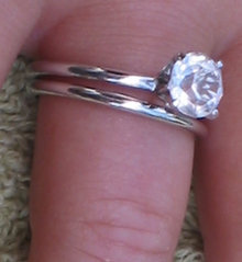 Cubic Zirconia Estate Wedding Ring