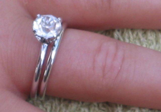 Cubic Zirconia Estate Wedding Ring