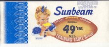 Sunbeam Bread Wrapper Sign