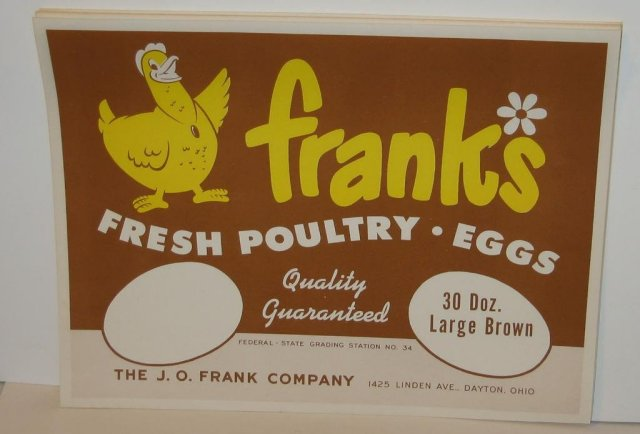 Frank's Egg Crate Labels Lot