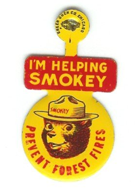 Smokey the Bear Lapel Pin