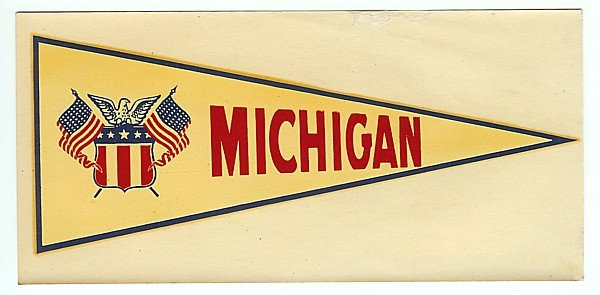 Michigan Water Dip Decal Sign