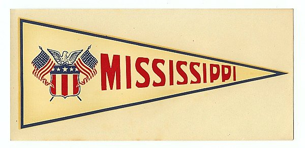 Mississippi Water Dip Decal Sign