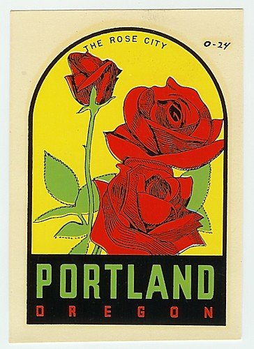 Vintage Portland Oregon Water Dip Decal Sign