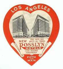 Rossyln Hotels Luggage Label