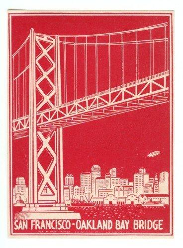 San Fransico Bridge Luggage Label