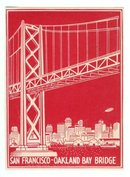 San Fransico Bridge Luggage Label