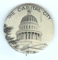 Sacramento CA Pinback Pin
