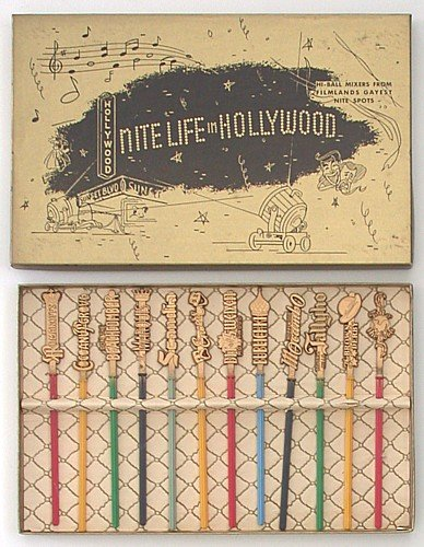 Hollywood Stir Sticks Bar Swizzle Display