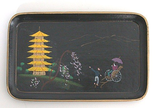Japanese Tip Tray - Black Lacquer
