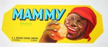Mammy Citrus Fruit Crate Label