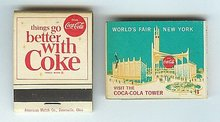Coca-Cola Soda World's Fair Matchbook