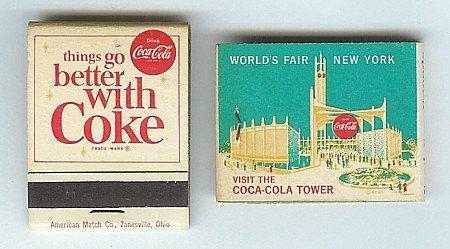 Coca-Cola Soda World's Fair Matchbook
