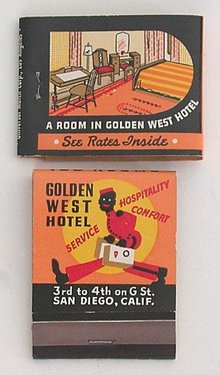 Black Bellman Matchbook