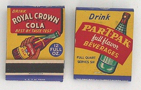 Royal Crown Soda Matchbook