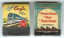 Missouri Pacific Eagle Matchbook