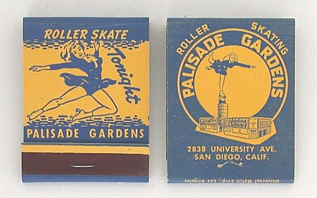 Roller Skating Rink Matchbook