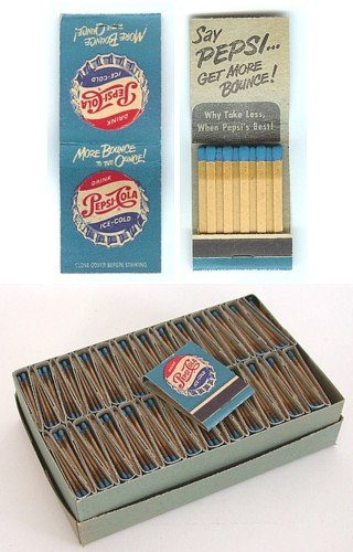 Pepsi Cola Soda Matchbooks Lot