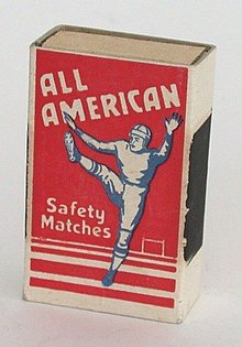 American Football Wooden Matches Matchbox