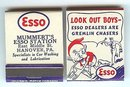 Esso Gas Matchbooks