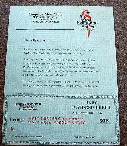 Old Vintage POLL PARROT advertising letter