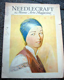 Old vintage 1932 NEEDLECRAFT MAGAZINE ukraine