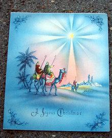 Old Vintage CHRISTMAS GREETING card