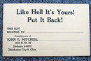 old vintage COMICAL HAT CHECK CARD