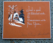 old vintage CHRISTMAS new years card