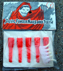 old vintage  VAMPIRE NAILS TEETH toy pack