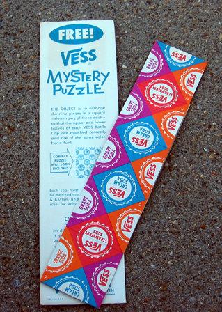 Vess Soda Puzzle Toy