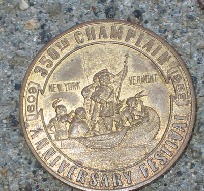 old vintage 1959 NY SOUVENIR anniversary COIN