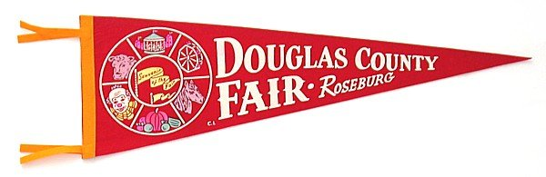 old vintage 1950s DOUGLAS COUNTY FAIR felt pennant