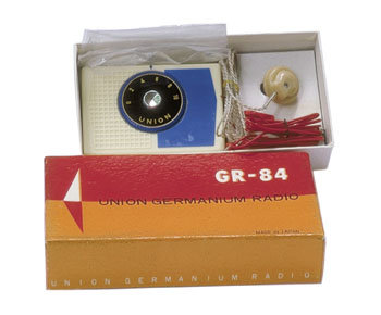 old vintage 1950s UNION GERMANIUM Crystal Radio