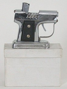 old vintage 1950s OCCUPIED JAPAN pistol lighter
