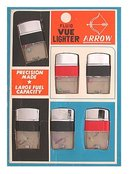 old vintage ARROW VUE LIGHTERS on store display
