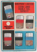 old vintage CLEAR VIEW LIGHTERS store DISPLAY