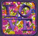 old vintage NOS 1960s HIPPIE PATCH ~ LOVE