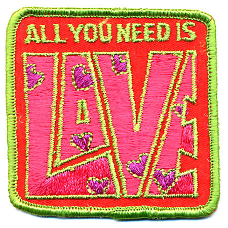 old vintage ALL YOU NEED IS LOVE patch floral