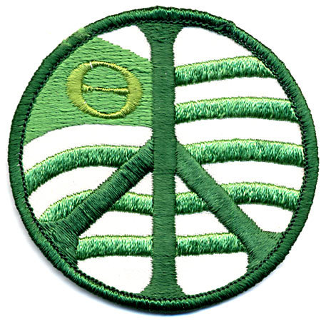 old vintage GREENPEACE hippy patch