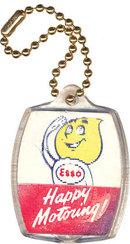 old vintage ESSO OIL DROP man flasher keychain