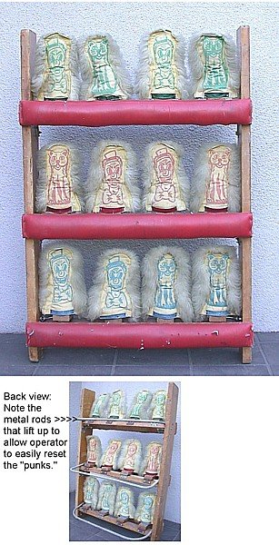 old vintage 1950s CARNIVAL CIRCUS CAT RACK GAME