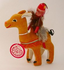 Celluloid Monkey Doll on Camel