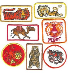 old vintage CIRCUS CARNIVAL PATCHES