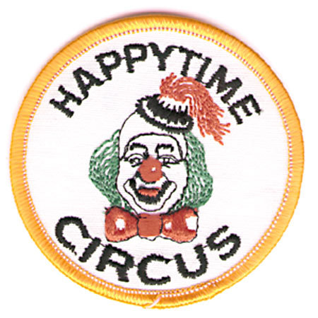 old vintage 1960s HAPPY TIME CIRCUS CLOWN patch