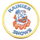 old vintage RANIER SHOWS CLOWN patch