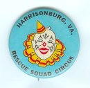 old vintage RESCUE SQUAD CLOWN CIRCUS pin