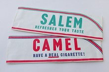 2 old vintage SALEM CAMEL concession stand hats